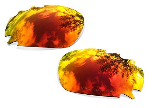 Sunglasses Restorer Polarized Fire Iridium Replacement Lenses for Oakley Racing Jacket - Restorer Sunglasses
