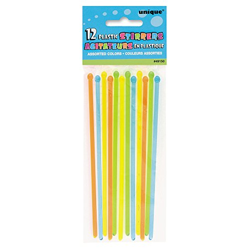 Plastic Cocktail Stirrer Sticks, Assorted