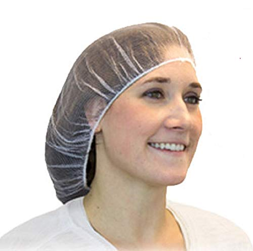 100 Pack White Micro Nylon Hairnets 24
