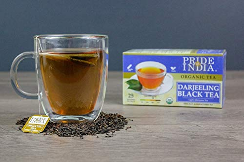 Pride Of India Organic Darjeeling Black Tea, 25 Tea Bags