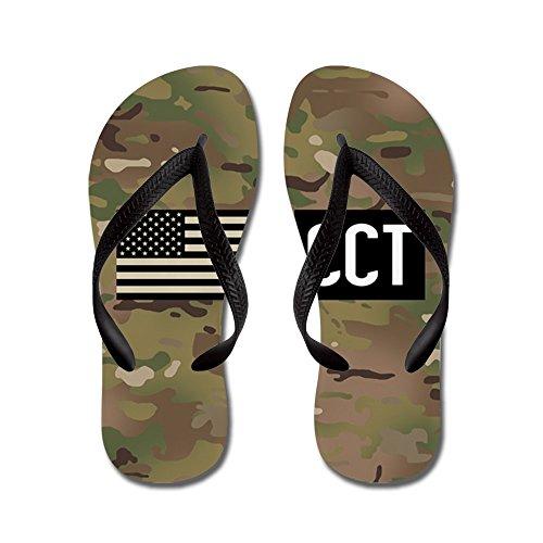 Cafepress Nous Armée De Lair: Cct (camo) - Tongs, Sandales String Drôles, Sandales De Plage Noir