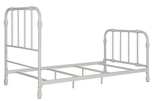 Marco de cama de metal Jenny Lind de DHP en blanco con elegante ...