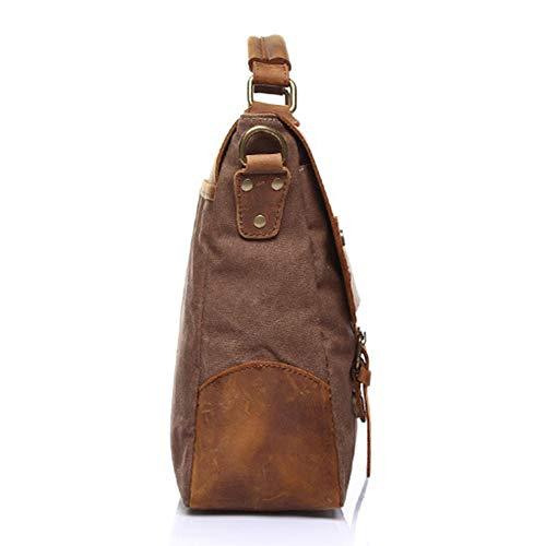 Brown Lona ayng trabajo 28cm Adecuado Hombre Mochila Wy Hombro Vendimia 36 Viajes 10 De Del Para Bolsa Mensajero khaki La B4qXAwHA