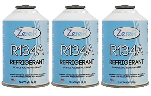 Price comparison product image ZeroR R-134a Refrigerant - Made in USA - 12oz Cans (3)