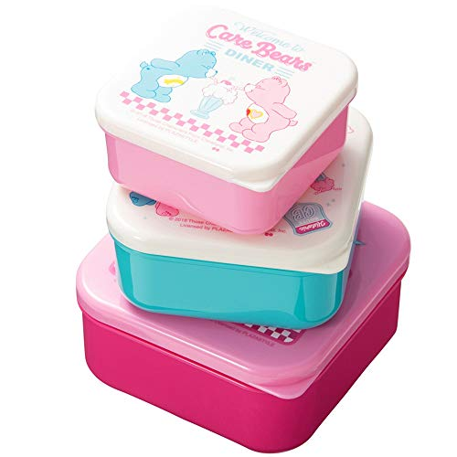- Care Bears Prep Containers with Lids Lunch Box Bento/Set of 3 [ CBA-1300 ]