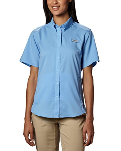 Columbia Women's Tamiami II Short Sleeve Fishing Shirt (White Cap, Medium)