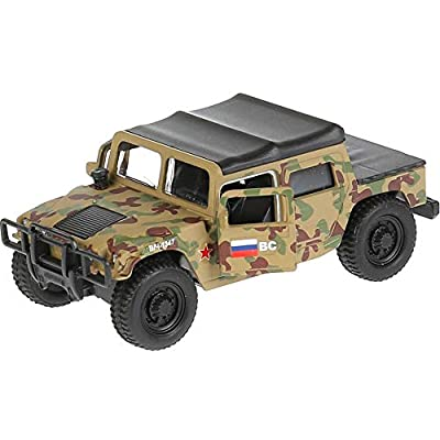 1:36 Scale Diecast Metal Model Car Hummer H1 Off-Road Utility Vechicle Russian Army Die-cast Toy: Toys & Games