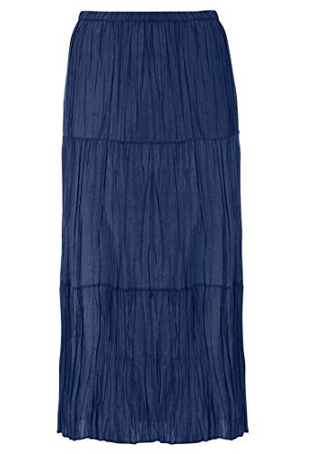 Plus Tiered Skirt - Ellos Women's Plus Size Tiered Crinkle Skirt Navy,14