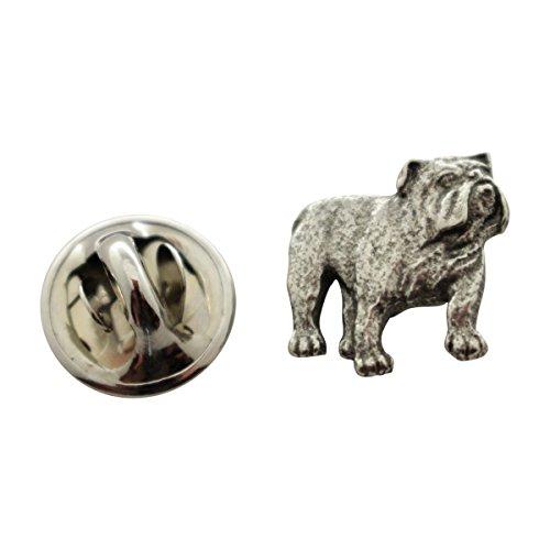 - Sarah's Treats & Treasures Bulldog Mini Pin ~ Antiqued Pewter ~ Miniature Lapel Pin