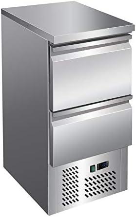 Saladette/Kühltisch PREMIUM - 0,43 x 0,7 m - mit 2 Schubladen