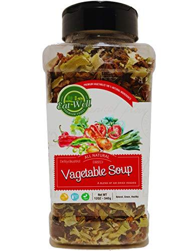 Dried Vegetables for Soup   12oz - 340 g - Bulk Spice Quart Jar with Shaker Top   100% Natural Vegetable Soup Blend   Premium Grade , Freshly Packed ()