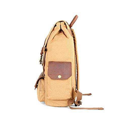 Outdoor Khaki Bag Canvas uomo Yxpnu Alpinismo Zaino per Vintage Travel 7qvwnOYA