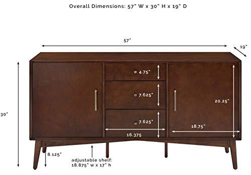 Kitchen Crosley Furniture Landon Buffet and Large Console, Mahogany modern buffet sideboards