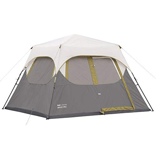 Coleman Company Signature Instant Cabin 6 Person Double Hub Tent, - Tent Coleman Cover