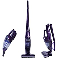 NPOLE 2-in-1 Cordless Upright Vacuum Cleaner Rechargeable Bagless Stick and Handheld Vacuum for Car with Upright Charging Base 2-speed Setting Lightweight Purple