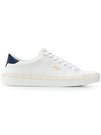 Golden Goose Hombre G34MS714E6 Blanco Cuero Zapatillas: Amazon.es: Zapatos y complementos