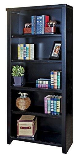 kathy ireland Home by Martin Tribeca Loft Black Bookcase, 70″ – Fully Assembled