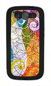 Abstract Design Colorful Pattern Customized Rubber Material Black Samsung Galaxy S3 I9300 Case By Custom Service