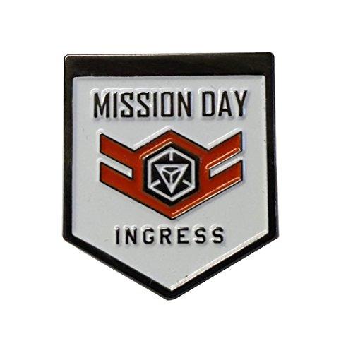 Ingress Mission Day Lapel Pin White 25mm Soft Enamel Pin (Meyer Pivot Pin)