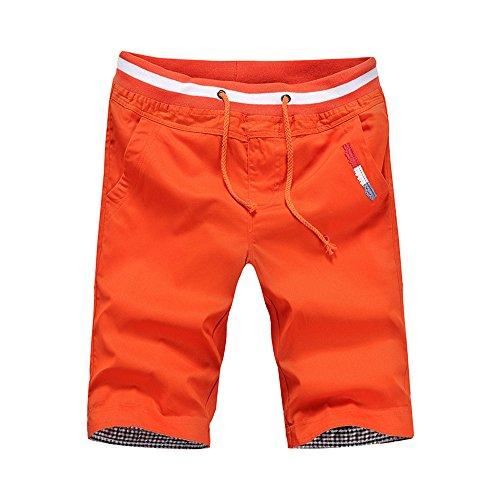Swim Trunks Men Long Big and Tall,MILIMIEYIK Blousess Shorts Beach Swimming Water Pants Orange