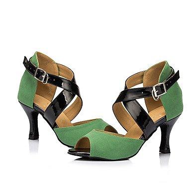 Tacón Zapatos Stiletto Personalizables baile Latino No de Verde green qYOwf