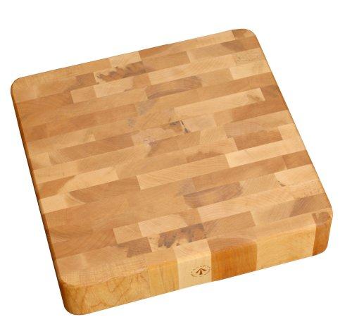 (J.K. Adams 16-Inch Square End-Grain Cherry Chunk Cutting Board)