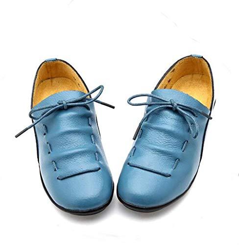 Uk7 Us9 Cuir Bleu coloré Confortable Dames Noir Véritable Étudiants Oudan cn41 talons Bas Eu40 Chaussures Taille Cn41 eu40 Bateau uk7 Orange Us9 Antidérapants Mocassins wgnnY67q