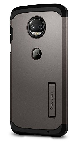Spigen Tough Armor Moto Z2 Force Case with Kickstand and Extreme Heavy Duty Protection and Air Cushion Technology for Moto Z2 Force (2017) - Gunmetal