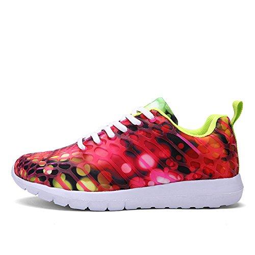 (Mysky Fashion Unisex Women Men Leisure Camouflage Comfortable Cross Tie Mesh Running Sport Shoes Sneakers)