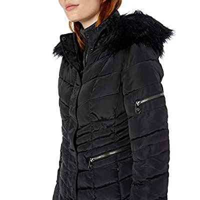 Nanette Lepore Women's Chevron Quilted Puffer Jacket: Clothing