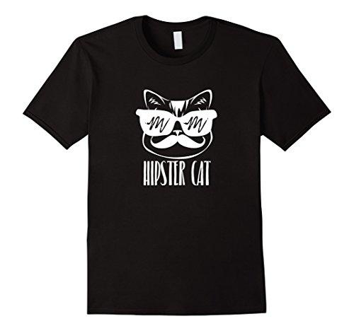 Hipster Cat Shirt - Sunglasses and handlebar - Sunglasses Black Handlebar Mustache