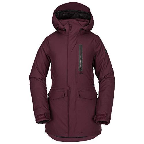 - Volcom Women's Shelter 3D Stretch Snow Jacket, Merlot, Large
