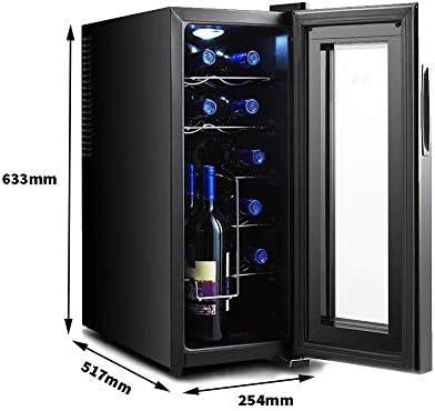 Gabinete termoeléctrico para vinos, Control de Pantalla táctil Independiente 11-18 ℃ Bajo Consumo de energía y bajo Nivel de Ruido Puede almacenar 12 Botellas de Vino Tinto
