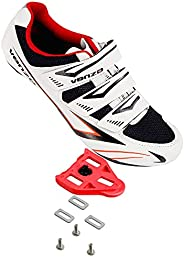 Venzo Bicycle Men's or Women's Road Cycling Riding Shoes - 3 Velcr
