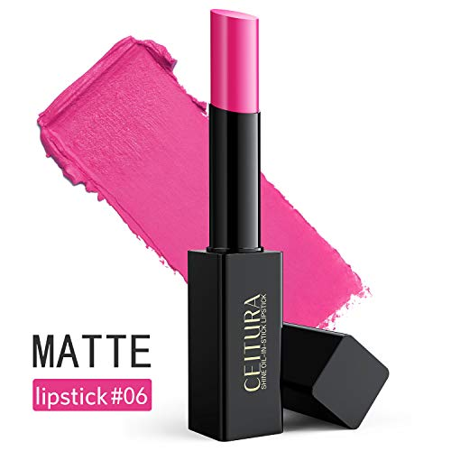 Lipsticks,Bright Fuschia Matte lipsticks Long Lasting Moisturizing for Nude Make up, CEITURA #006, 1 Tube