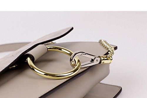 Chain FY Bag Black Actlure Shoulder Genuine Women Crossbody Link Leather Purse xPU1n6