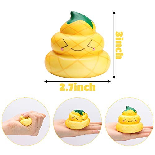 WATINC Random 12 Pcs Kawaii Soft Poo Squishy Cream Scented Stress Relif Toy, Decorative Props Gift Hand Toy for Kids by WATINC (Image #4)