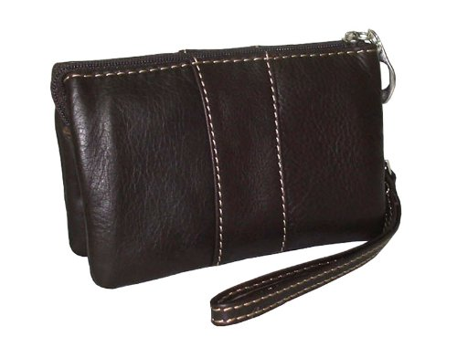 amerileather-mini-zip-wristlet-dark-brown