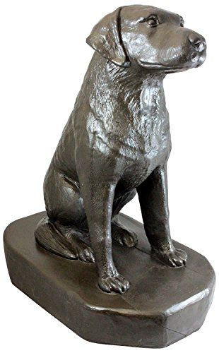 "Emsco Group 92302 Sitting Labrador Statue – Natural Appearance – Made of Resin – Lightweight – 31"" Height Garden, Bronze by Emsco Group"