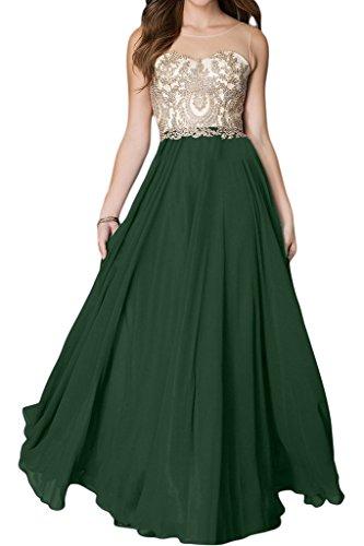 Linie Ivydressing Damen Lang Promkleid Partykleid A Rundkragen Dunkelgruen Abendkleid Hochwertig Spitze Applikation pCpxwYqr