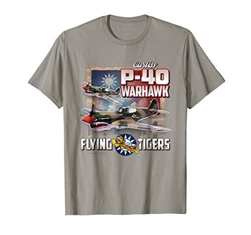 Aviation Tees: P-40 Warhawk Flying Tigers Shirt