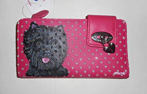 - Black Brindle Cairn Terrier Dog Hand Painted Wallet for Women Vegan with Safety protect