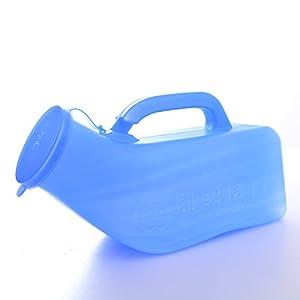 Gloveleya Blue Boy's Portable Travel Toilet Urinals Men's Potty Plastic Pee Bottle 1000ML