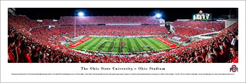 Ohio State Football - Band Script - Blakeway Panoramas Unframed College Sports Posters