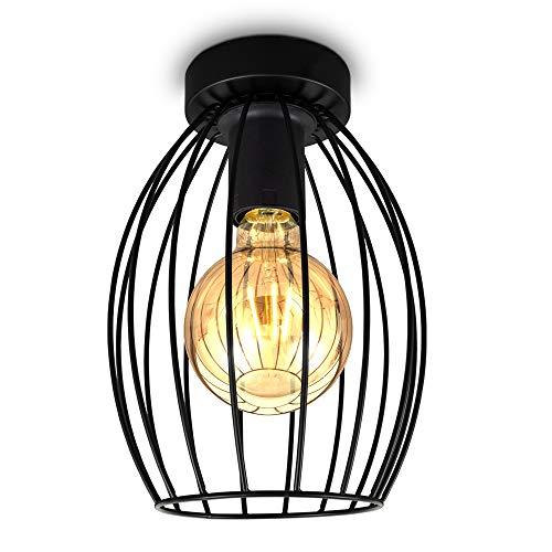 B.K.Licht I Plafondlamp I plafoniere I lampen zwart I retro plafondlampen industrieel I draad I metaal I vintage…