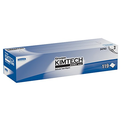 Kimwipes Delicate Task Kimtech Science Wipers (34743), White, 3-PLY, 15 Pop-Up Boxes/Case, 119 Sheets/Box, 1,785 Sheets/Case