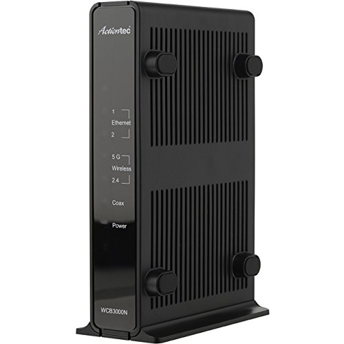 Actiontec Single Dual-Band Wireless Network Extender and Ethernet Over Coax Adapter (WCB3000N)