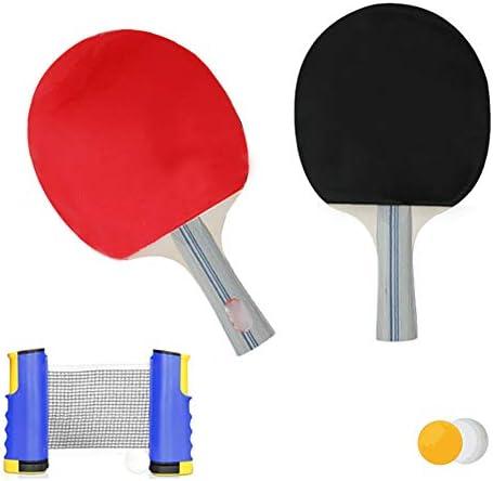伸縮式卓球ゲームテーブル、卓球テーブルセットには、伸縮式ネットポストが1つ含まれています2卓球ラケット3ボールホームエクササイズ