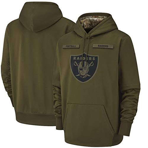 Men's_Oakland_Raiders_Olive_Salute_to_Service_Sideline_Therma_Pullover_Hoodie XL (Oakland Raiders Salute To Service Hoodie Xl)