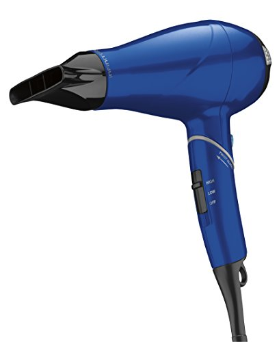 Infiniti Pro by Conair 1875 Watt Compact AC Motor Travel Styler / Hair Dryer with Twist Folding Handle; Blue For Sale